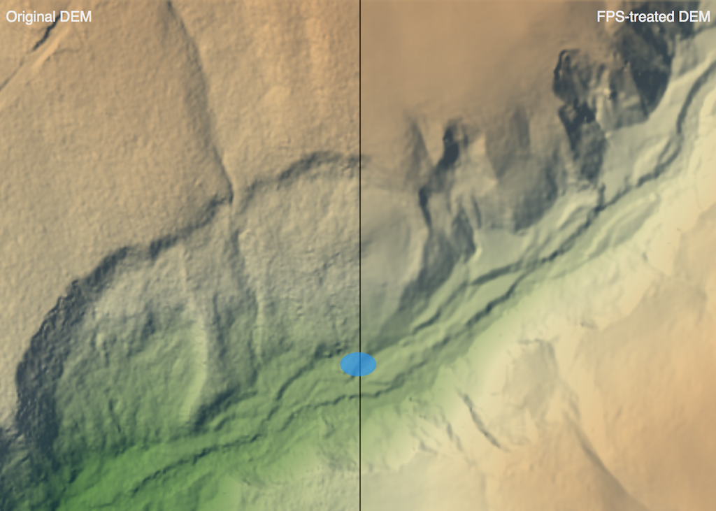 Feature Preserving Smoothing DEMGeospatial Software