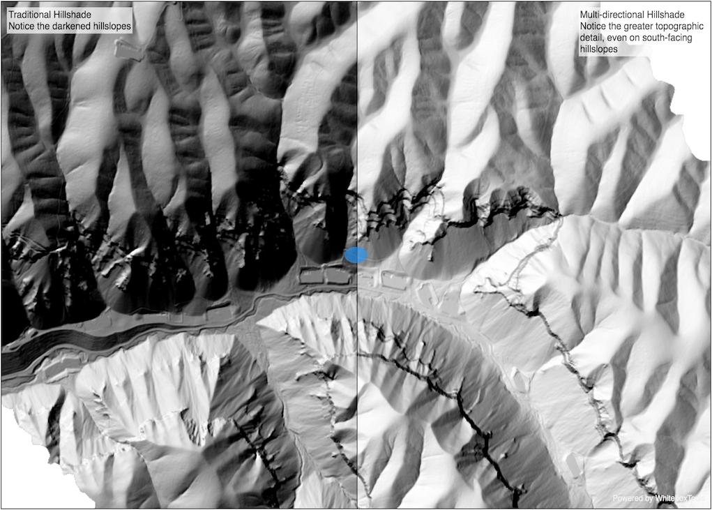 Hillshade DEM Multidirectional Hillshade Geospatial Software