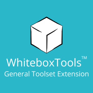 Whitebox Geospatial General Toolset Extension WhiteboxTools Extensions