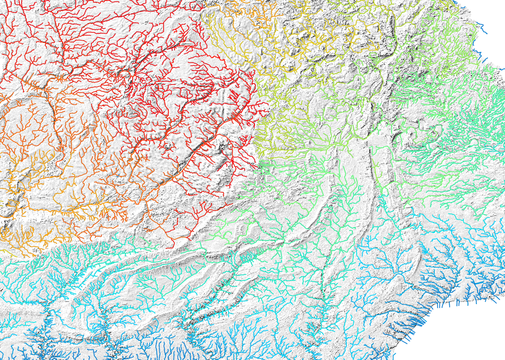 DEM and Spatial Hydrology Extension - Vector stream network analysis tool